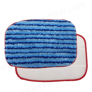 Customized China Supplier Replacement Steam Vacuum Cleaner Microfiber Mop Pads
