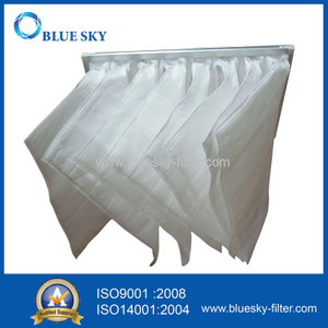 595*595*600mm G4 Efficiency Nonwoven Pocket Filter Bags