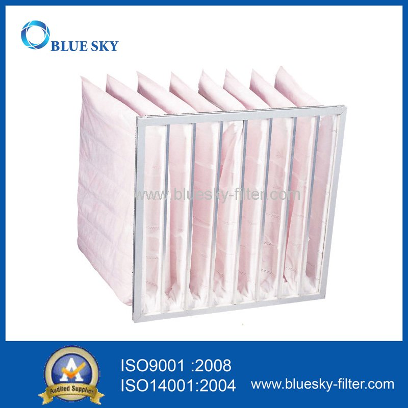 Nonwoven Pocket Filter Bag with Efficiency F7 for HVAC System