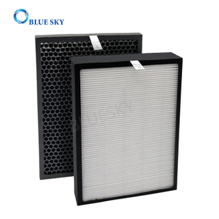 Panel H13 True HEPA Filter and Honeycomb Avtivated Carbon Filter for Alexapure Breeze Air Purifier