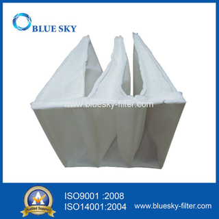 Synthetic Fiber F5 Efficiency Pocket Filter Bags for HVAC System