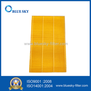 Customized Yellow Wood Pulp Paper Material Panel Filter For Air Purifier