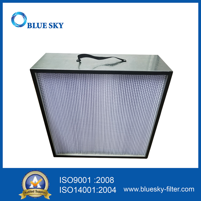 665X670X230mm Aluminium Frame Deep Pleat Box HEPA Filter